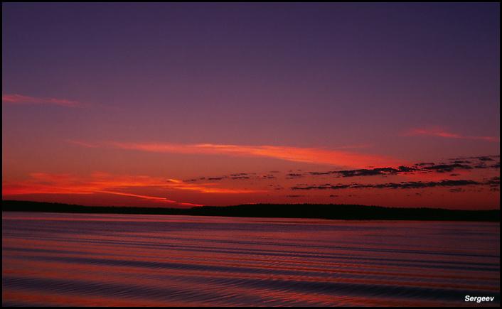 """фото """"Маленький восход большой речки"""" метки: пейзаж, закат"""