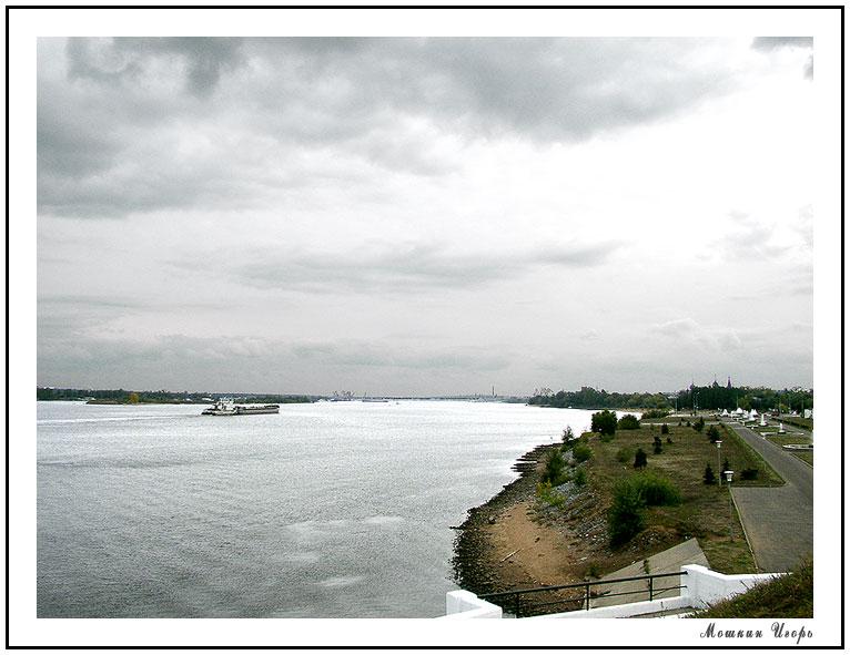 """фото """"Волга. Осень. Ярославль"""" метки: пейзаж, вода, осень"""