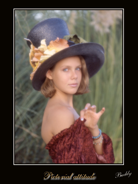 "фото ""Bigger hat"" метки: портрет, женщина"