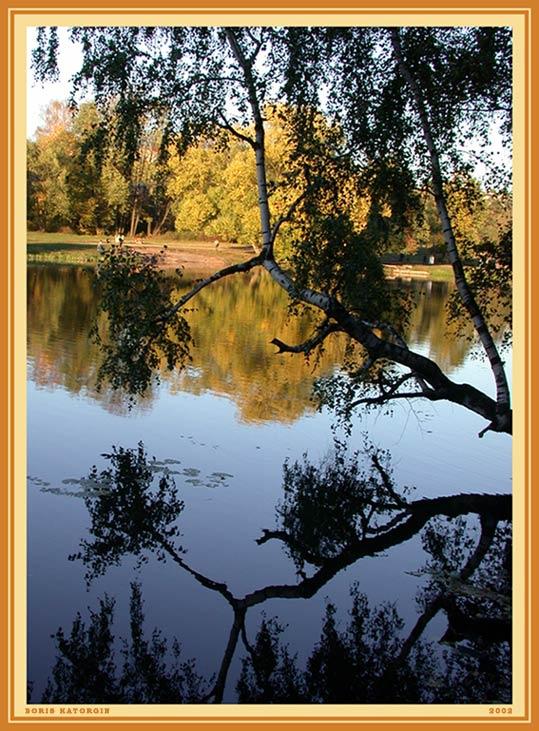 """фото """"Симметрия"""" метки: пейзаж, вода, осень"""