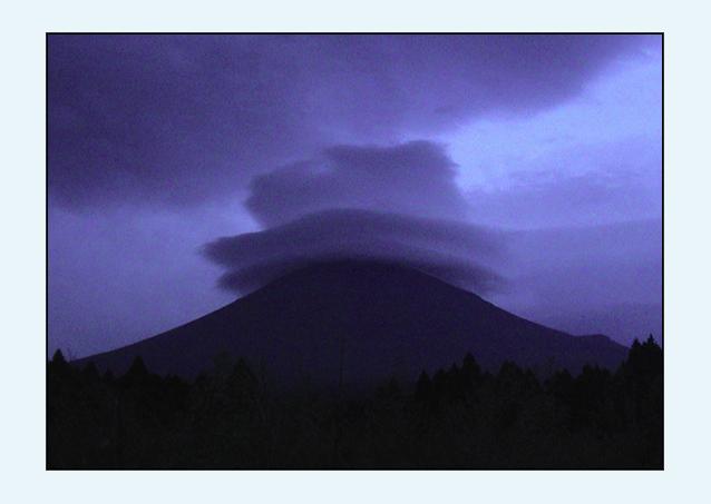 """фото """"Mount Fuji Wearing a Hat"""" метки: пейзаж, путешествия, Азия, горы"""