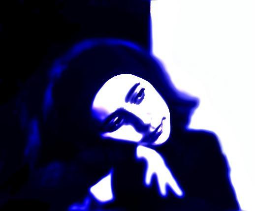 """фото """"Blue Portrait"""" метки: абстракция, портрет,"""