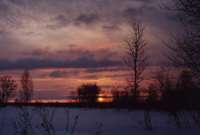 """фото """"Этюд в багровых тонах"""" метки: пейзаж, закат, зима"""