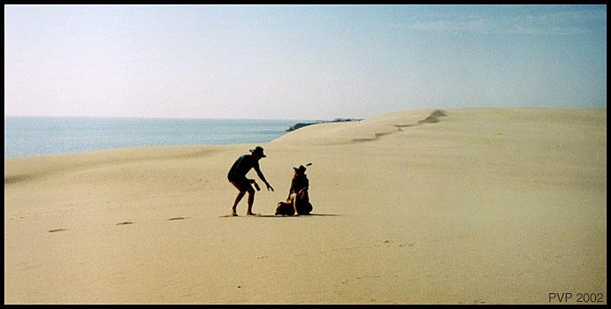 """фото """"Двое в дюнах (Дюны 3)"""" метки: путешествия, Европа"""