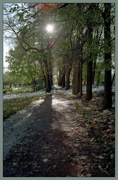 """фото """"Неправильная осенняя фотография с рефлексами"""" метки: пейзаж, закат, осень"""