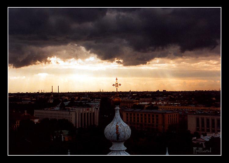 """фото """"Гроза над Смольным"""" метки: пейзаж, облака"""