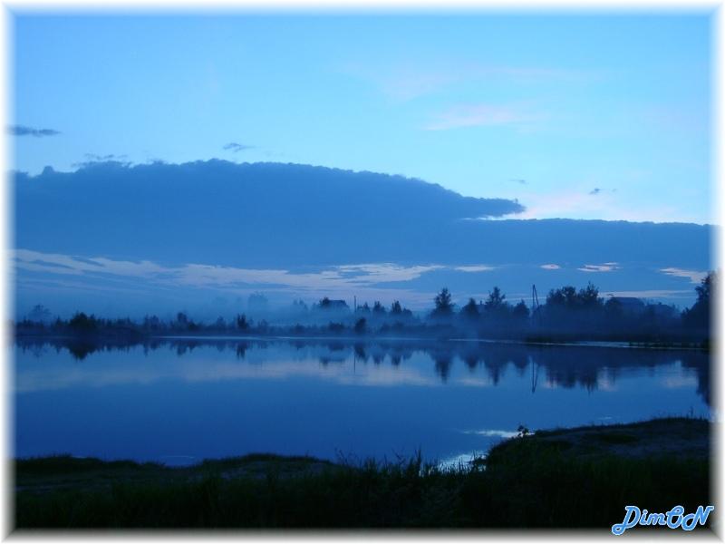 "фото ""ВЕЧЕР НА ОЗЕРЕ"" метки: пейзаж, вода, ночь"