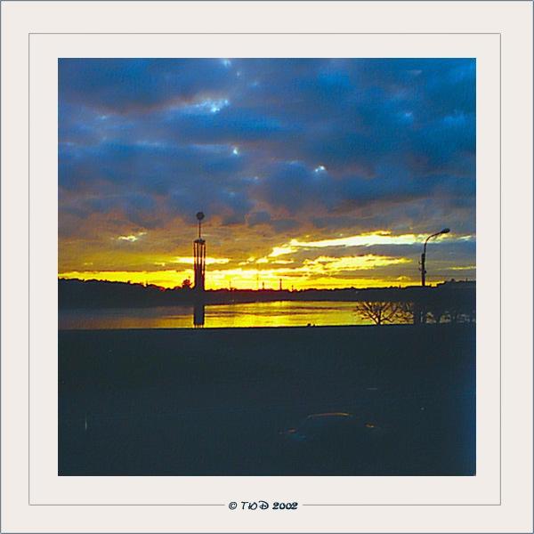 """фото """"Закат над Невой"""" метки: пейзаж, путешествия, Европа, закат"""