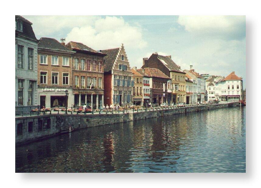 """фото """"Ghent (Belgium) - The Channel"""" метки: путешествия, Европа"""
