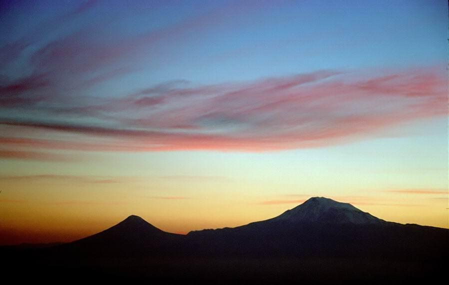 "фото ""Библейская гора (Арарат) 2"" метки: пейзаж, горы, закат"