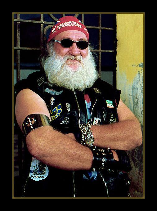 """фото """"The Bikers`Santa Claus"""" метки: портрет, мужчина"""