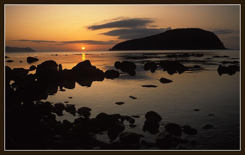 "фото ""Утро на побережье Японского моря"" метки: пейзаж, вода, закат"