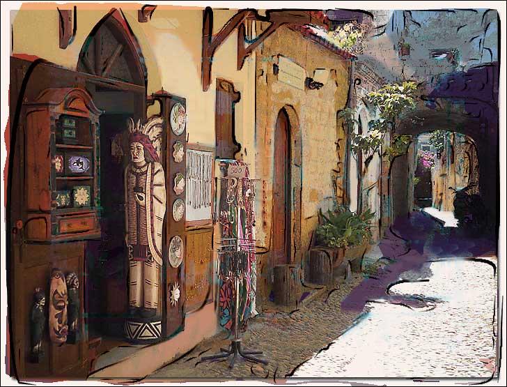 "фото ""Cigarstore, Old City, Rhodos"" метки: фотомонтаж, архитектура, пейзаж,"