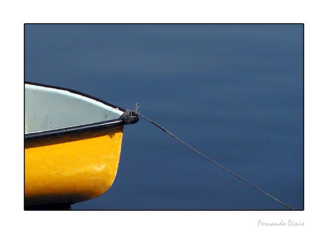 """фото """"The yelow boat"""" метки: пейзаж, абстракция, вода"""