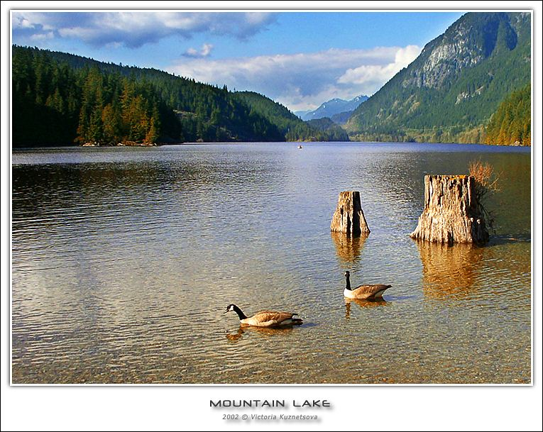 "photo ""Mountain Lake"" tags: landscape, mountains, water"
