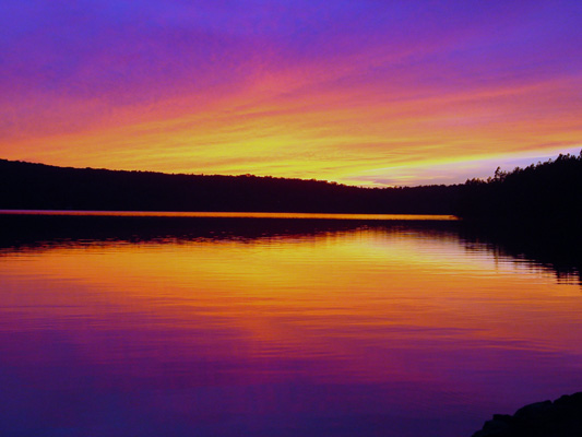 "photo ""Sunset Saranac Lake, NY"" tags: misc.,"