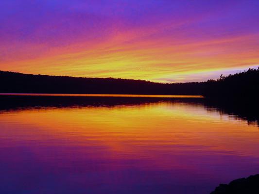 """фото """"Sunset Saranac Lake, NY"""" метки: разное,"""