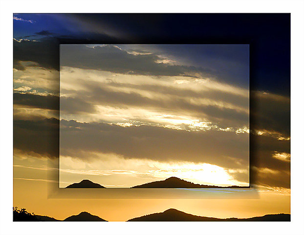 """photo """"A window for the sky"""" tags: montage, landscape, sunset"""
