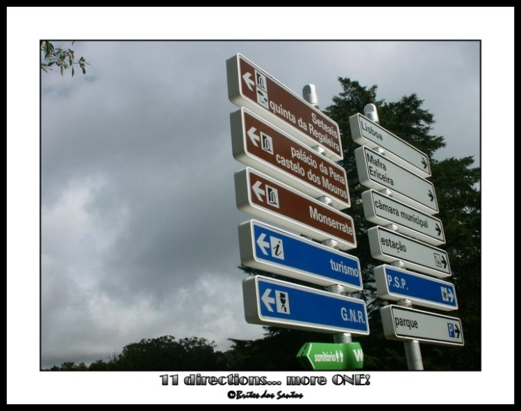 "photo ""11 directions... more one!"" tags: humor,"