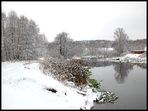 "photo ""The beginning of winter"" tags: landscape, water, winter"