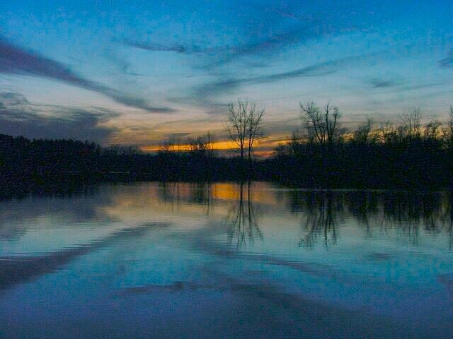 "photo ""Sunset Reflections"" tags: landscape, sunset, water"