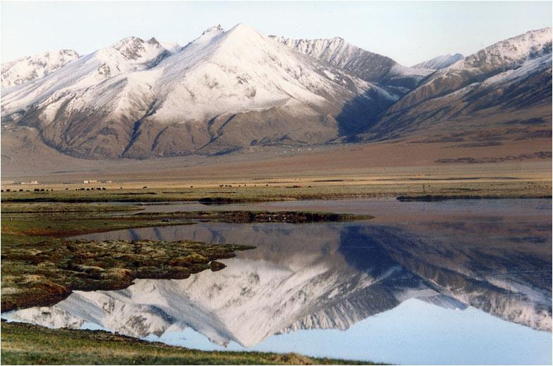"""фото """"В горах Тибета #3"""" метки: пейзаж, вода, горы"""