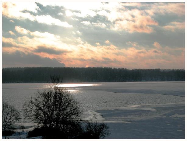 """фото """"Солнечная полынья"""" метки: пейзаж, вода, зима"""