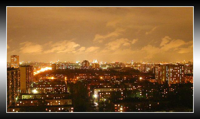 """фото """"Московских окон негасимый свет"""" метки: архитектура, пейзаж, ночь"""