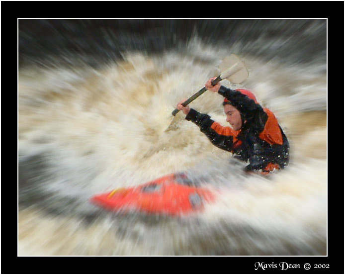 "фото ""Canoeist at Sligo zoomed"" метки: спорт, пейзаж, вода"