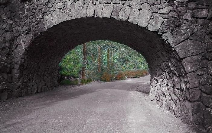 """фото """"Through The Tunnel"""" метки: фотомонтаж,"""