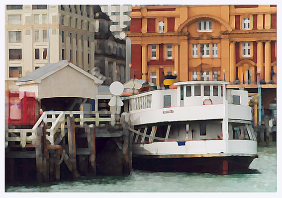 "фото ""Old Ferry  - The Mood Of Empire."" метки: архитектура, фотомонтаж, пейзаж,"