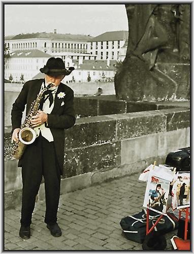 """photo """"Sax Man"""" tags: portrait, genre,"""