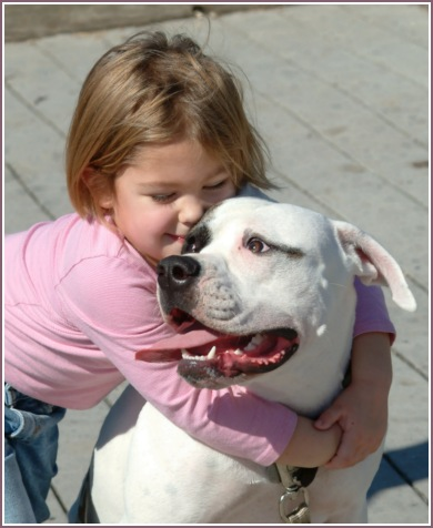 "photo ""I love my doggy"" tags: portrait, children"