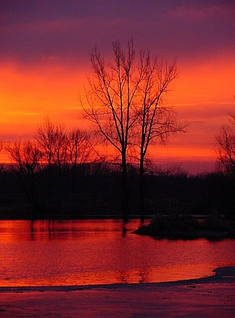 "photo ""Red Sunset"" tags: landscape, nature, sunset"