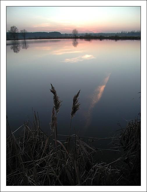 """фото """"Закат на озере"""" метки: пейзаж, вода, закат"""