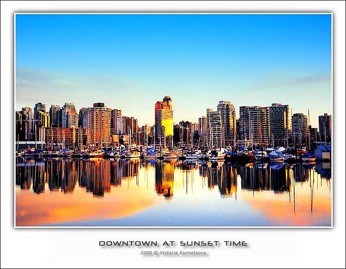 """фото """"Даунтаун"""" метки: архитектура, пейзаж, закат"""
