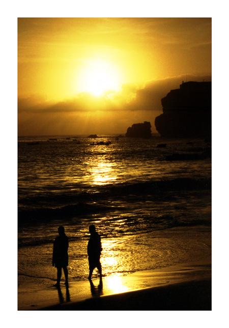 "фото ""Sunset in Nazare"" метки: пейзаж, закат"