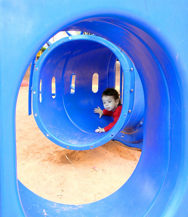 "photo ""Tunneling 2"" tags: portrait, abstract, children"