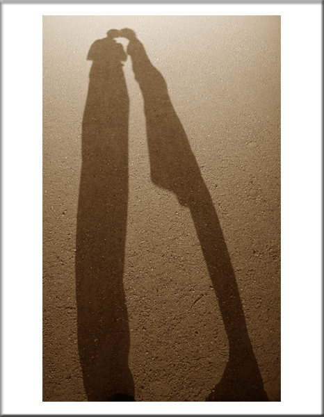 "photo ""Kissing shadows"" tags: portrait,"