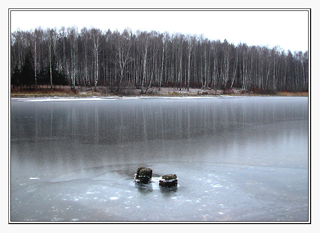 "photo ""The first ice"" tags: landscape, nature, winter"