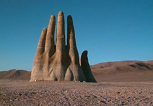 "photo ""Hand in the Desert"" tags: landscape, travel, South America"