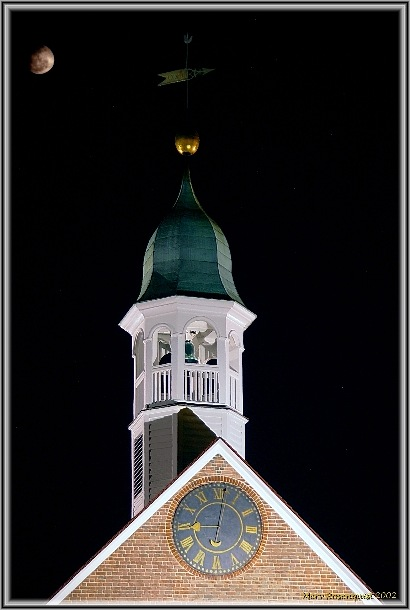 "photo ""Bell Tower under the Moon"" tags: architecture, landscape, night"