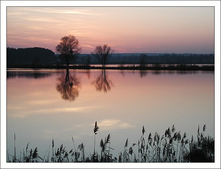 "photo ""Sunset mirror"" tags: landscape, sunset, water"