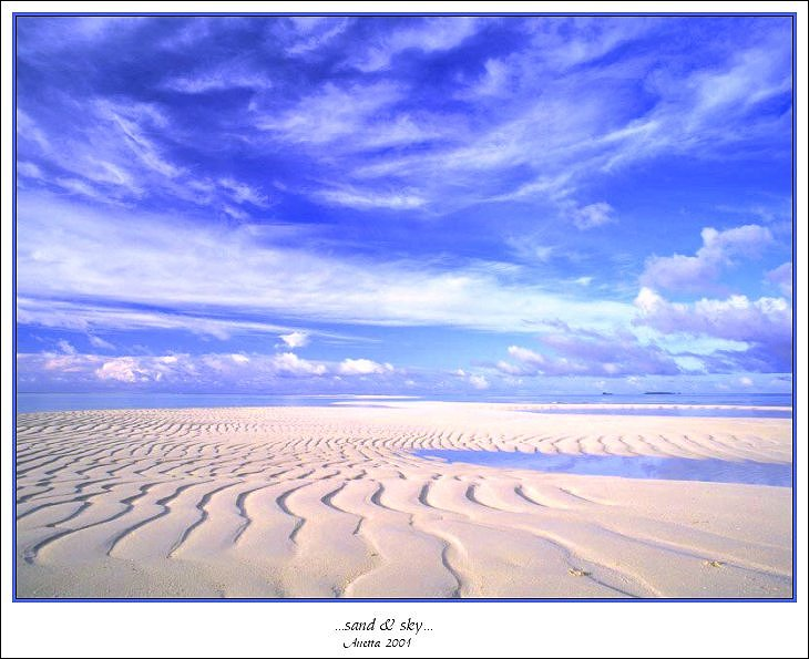 "photo ""...sand & sky..."" tags: landscape, clouds, summer"
