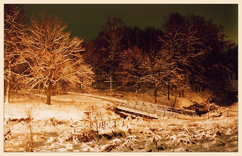 "photo ""A way to a fairy tale II"" tags: landscape, night, winter"