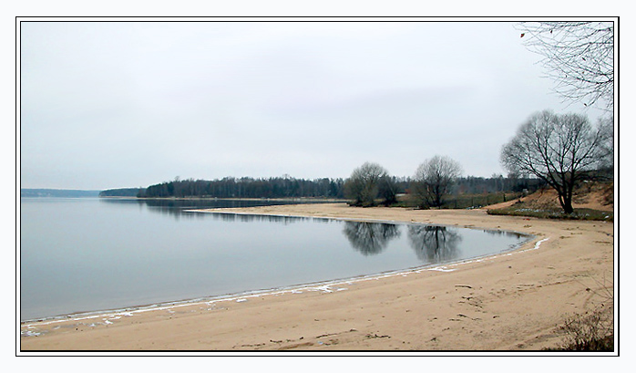 "photo ""Frozen beach"" tags: landscape, water, winter"