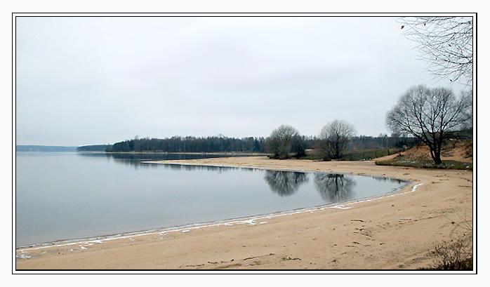 """фото """"Замёрзший пляж"""" метки: пейзаж, вода, зима"""