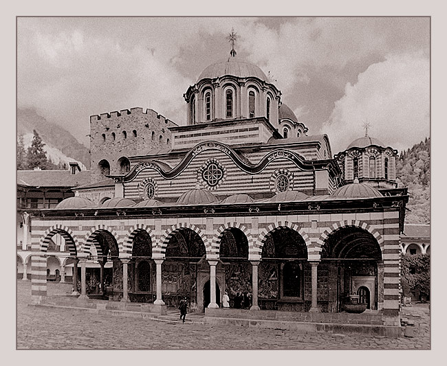 "photo ""Bulgaria. Rila monastery (series ""Post cards for g"" tags: travel, architecture, landscape, Europe"