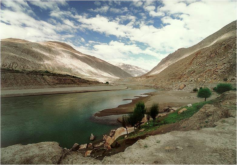 """фото """"В горах Тибета #6"""" метки: пейзаж, вода, горы"""
