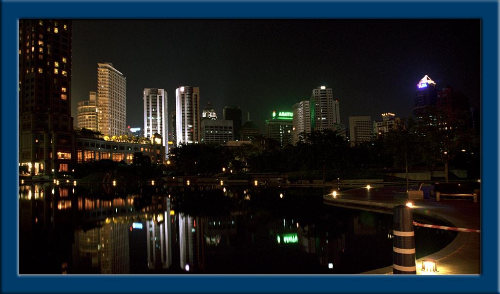 "photo ""Kuola Lumpur`s night"" tags: architecture, landscape,"